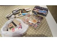 Vintage Retro Sewing Bundle Tins Thimbles Thread Buttons