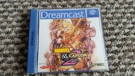 sega dreamcast Marvel vs Capcom 2 boxed with instructions