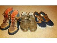 Boys 3 pair of shoes lot