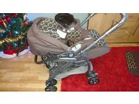 Mamas and Papas Pilko Pramette. 3 in 1 pushchair/car seat.