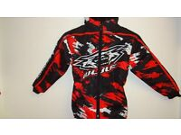 wulfsport jacket motocross motox quad youth junior kids red black size 28 approx age 8-9