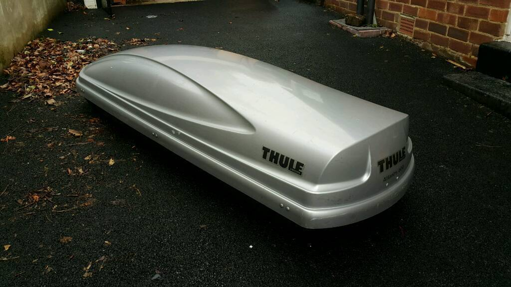 thule atlantis 600 quick mount 340 litres roofbox used. Black Bedroom Furniture Sets. Home Design Ideas