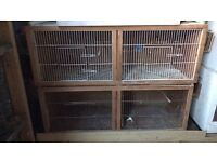 Bird cages and budgie breeding cages .