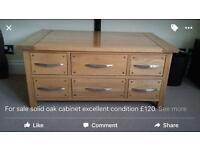Oak storage unit
