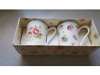 Set of two cath kidston mugs in box