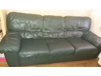 Leather Sofa 3 and 2 seater with poof