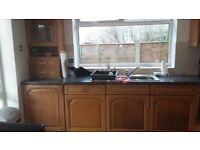Oak kitchen and appliances