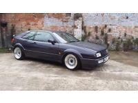 1995 VW CORRADO 2.0 16V 16X9 STAGGERED ALLOYS, COILOVERS, not G60 VR6 golf mk1 mk2 BARGAIN