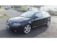 Audi A3 2.0 TDI S Line Sportback 5dr BOSE, LEATHER, XENONS , REMAP DPF REMOVED ,