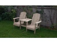 Jack and Jill seat Love Seat Twin seat Garden chair Summer seat furniture set Lough view Joinery