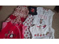 Girls christmas clothes bundle