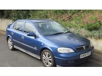 Vauxhall Astra SRi 1800cc 2002 model, MOT July 2018. New battery, rear tyres only few months old.