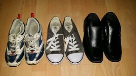 3 pairs of boys shoes