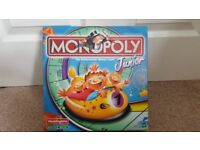 MONOPOLY JUNIOR ROLLERCOASTER BOARD GAME HASBRO 5-8YRS 2-4 PLAYERS