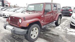 2010 Jeep WRANGLER UNLIMITED UNLIMITED SAHARA 4X4 A/C MAGS 2 TOI
