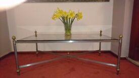 Elegant harrods glass coffee table