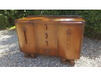 1950s vintage sideboard, Jentique, Art Deco style. Restoration / Up-cycling project.