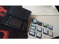 Nintendo DS lite 10 games missing stylus pen comes with charger. 30 quid