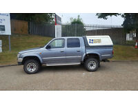 1998/S Reg Toyota Hilux 2.4 TD (Turbo Diesel) Double Cab (Rear Truck Top) + Grey +