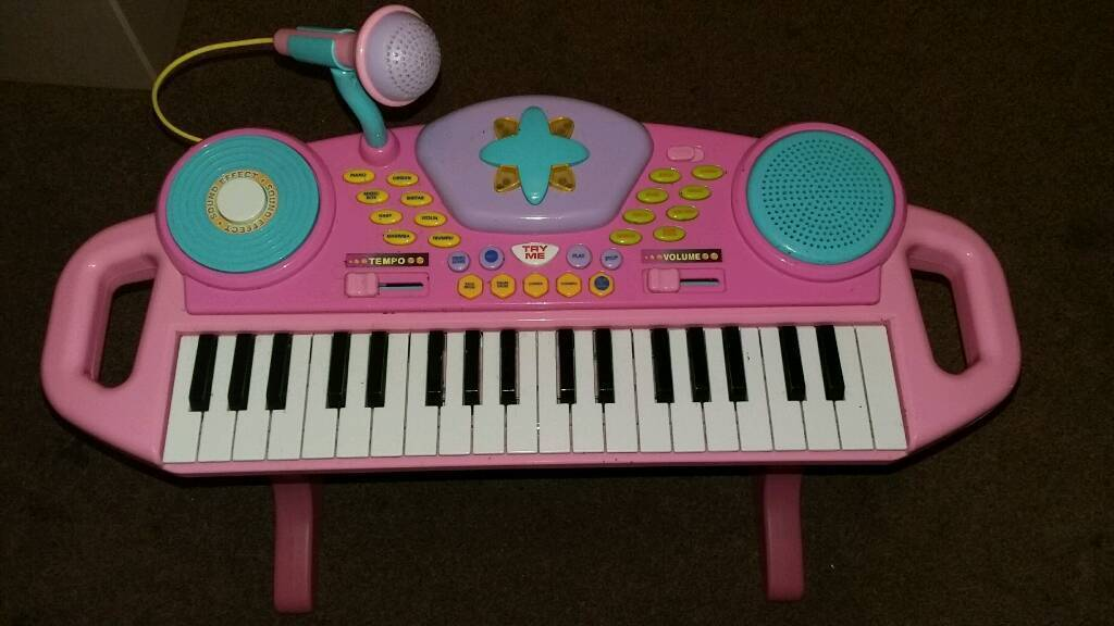 Child's Keyboard and Chair.