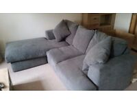 4 seater corner Chaise Next sofa in Grey