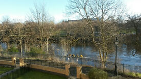 City centre 2 bedroom flat with River Clyde views