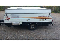 Trailer Tent 4-6 Berth US made Starcraft hard top erected in minutes