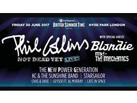 Phil Collins tickets Hyde Park PLUS tickets for londons ICEBAR (2 tickets)