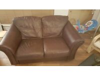 2 Person Leather Sofa and 1 Chair £50 MUST GO!!!!