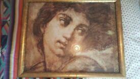 Large framed classic artwork print