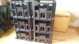 beer bottle crates.