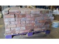 260 Reclaimed multi coloured bricks