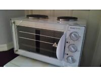 Table top Electric oven with Two Hobbs