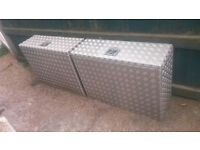 Aluminium chequer plate 88 x 33 x 65cm chests/boxes