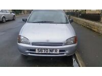 Cheap Toyota Starlet Solida 1.3 5 door hatchback in Silver for sale