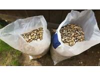 Two Large Bags Garden Stones