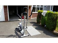 Kettler Sirocco Electronic Cross Trainer excellent condition with user manual and mat