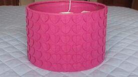 Brand new Peppi Pink Heart Light Shade -30cm deep