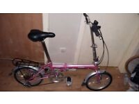 Nice pink ladies Folding Bike £40