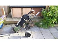 Brilliant set of starter ladies clubs complete with bag, trolley, loads of balls and tees