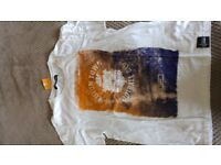 new LUTON TOWN WITH THE GODS CREST TEE TSHIRT ADULT SIZE XL