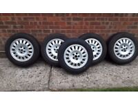 Set of Alloy Wheels (including spare) for Rover 75 with winter tyres