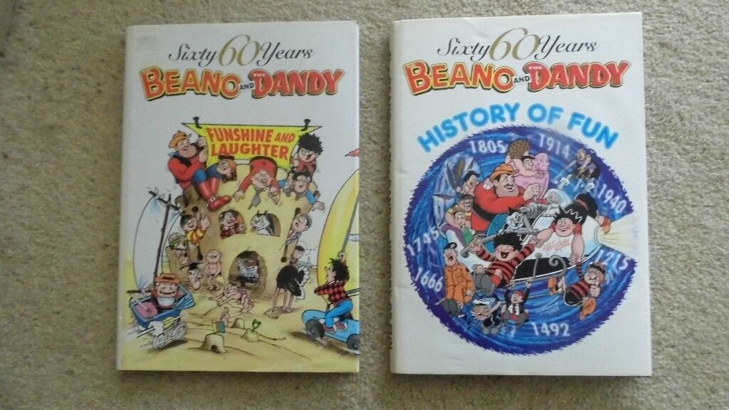 BEANO & DANDY HISTORY OF FUN & FUNSHINE & LAUGHTER - GOOD CONDITION