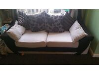 Three seater two seater and footstool £250 ono