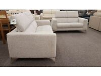 Ex Display Furniture Village Fabric 3 & 2 Seater Sofas **CAN DELIVER**RRP £2060 BARGAIN ONLY £995**