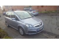 Vauxhall Zafira 1.9 CDTI 120 Life Diesel Manual 7 Seater 5 Door Hatchback 2006, 119000 miles. £1850