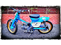 ## 1978 HONDA C90 WITH EXTENSIVE REMODELING & PERFORMANCE PARTS ##