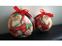 Perfect gift - Handmade Christmas Baubles - set of 2
