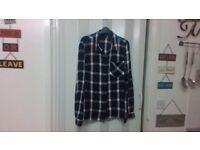 ladies blue size 14 check shirt