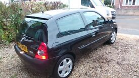 Renault Clio Dynamic Billabong 16V 1.4 Petrol 2003 Black Excellent Condition